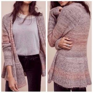 knitted & knotted cody knit peplum ombré sweater